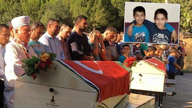 Manisa Alaşehir'de gölette boğulan ikizler toprağa verildi