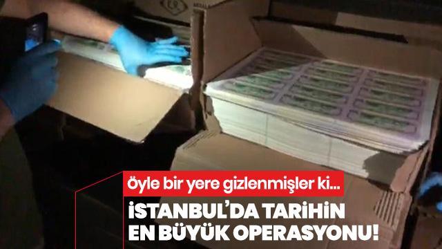 İstanbul'da, tarihin en büyük sahte dolar operasyonu