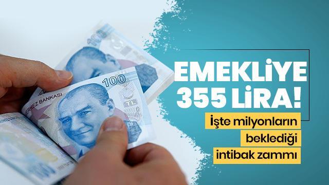 Emekliye 355 lira intibak zammı