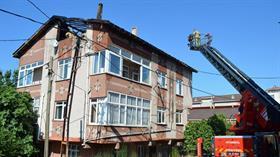 Aynı binada üç saat arayla iki kez yangın çıktı