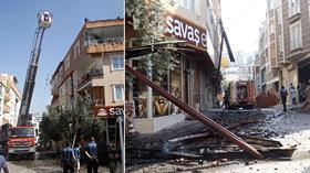 Bursa'da bir apartmanın çatı katında yangın çıktı
