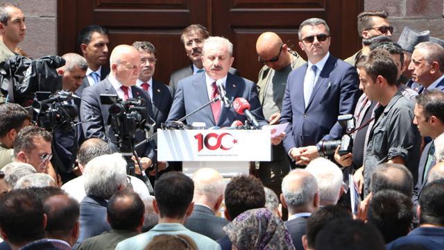 TBMM Başkanı Mustafa Şentop: İşgale karşı en büyük savunma gücümüz millet ruhudur