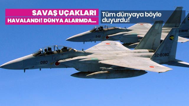 Japon savaş uçaklarından Rusya ve Çin uçaklarına müdahale!