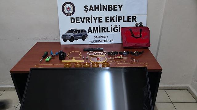 Gaziantep'te hırsızlık şüphelisi takside yakalandı