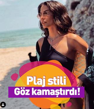 Demet Özdemir'in plaj stili göz kamaştırdı!