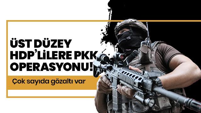 HDP ve DBP yöneticilerine PKK operasyonu