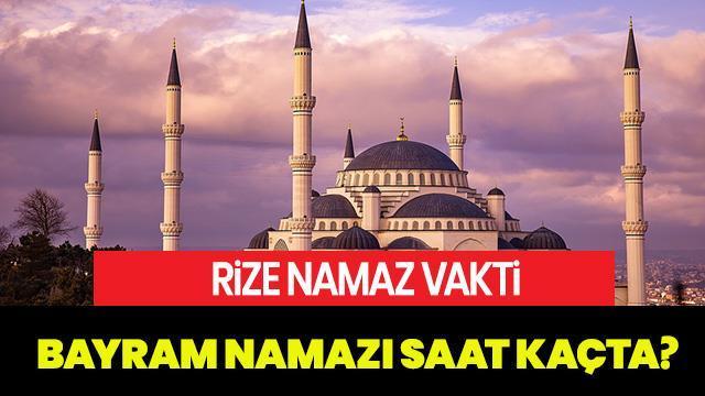 2019 Rize Bayram Namazi Vakti