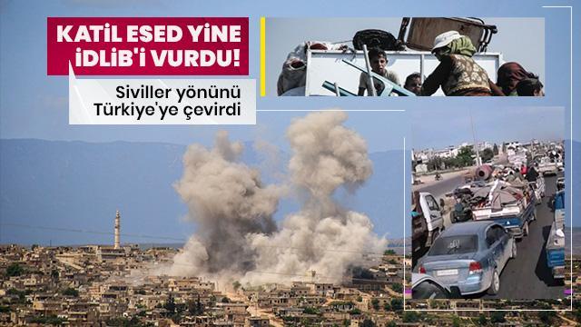Ateşkese rağmen İdlib'de bombardıman sürüyor! Siviller yönünü Türkiye'ye çevirdi