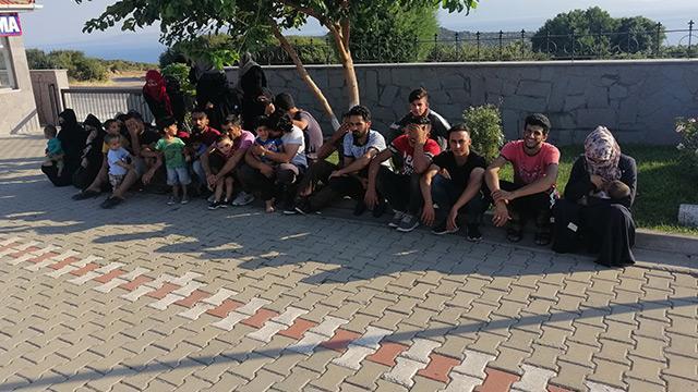 Çanakkale'de 39 düzensiz göçmen yakalandı