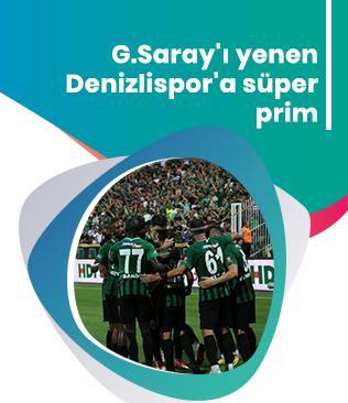 G.Saray'ı yenen Denizlispor'a süper prim