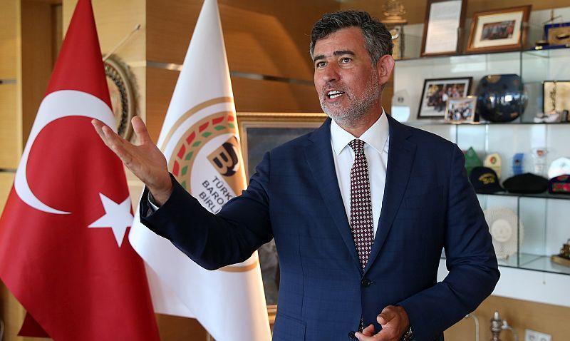"""Türkiye Barolar Birliği Başkanı Metin Feyzioğlu'ndan """"adli yıl açılış töreni"""" eleştirilerine yanıt"""