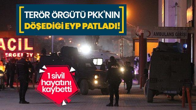 PKK'nın döşediği EYP patladı! 1 sivil can verdi