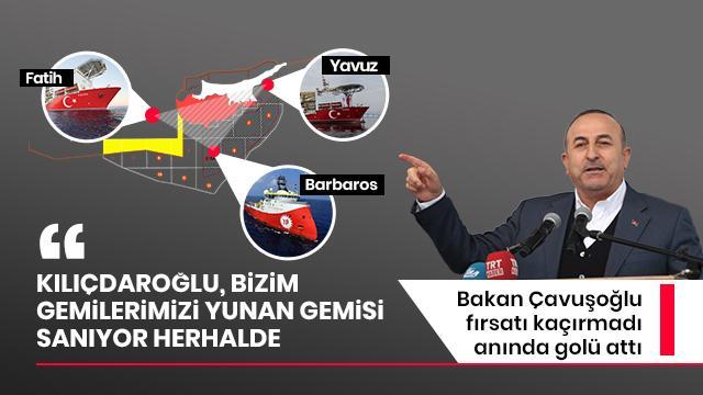 Bakan Çavuşoğlu fırsatı kaçırmadı anında golü attı