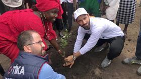 TİKA gönüllüleri Senegal'e 'yağmurla' geldi