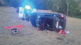 Sivas'ta otomobilin devrilmesi sonucu 1 kişi öldü, 3 kişi yaralandı