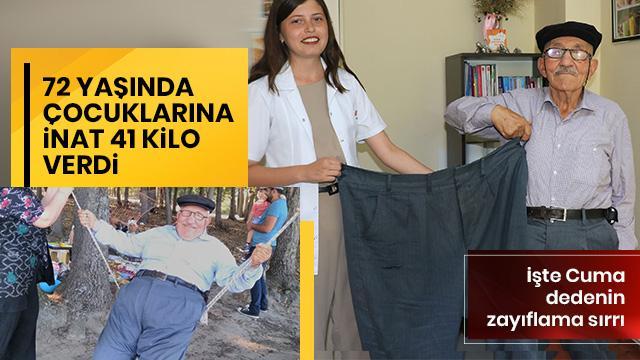 72 yaşında çocuklarına inat 41 kilo verdi