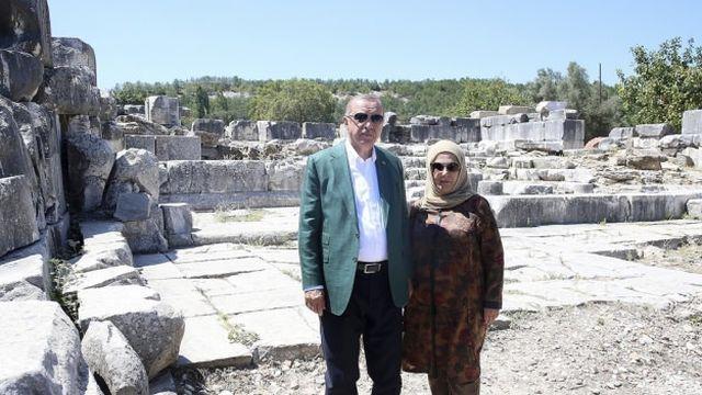 Başkan Erdoğan'dan Stratonikeia Antik Kenti'ne ziyaret