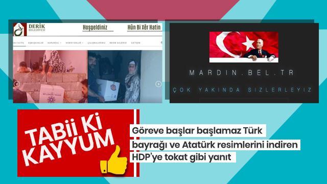 Diyarbakır, Mardin ve Van Büyükşehir Belediyeleri'nin internet sitelerinde bu uyarı veriliyor