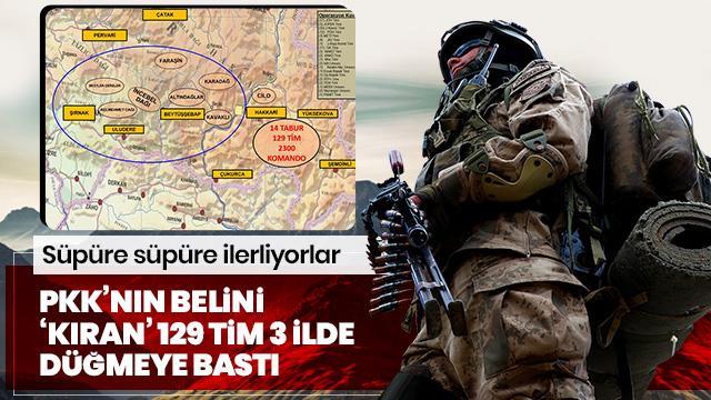 PKK'nın belini 'Kıran' 129 tim Hakkari, Şırnak ve Van'da operasyona başladı! Süpüre süpüre ilerliyorlar