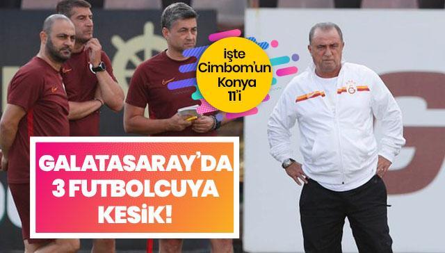Fatih Terim'den Konya maçı öncesi 3 kesik