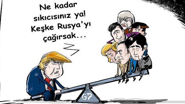 Trump: G7 zirvesinde Rusya da olmalı