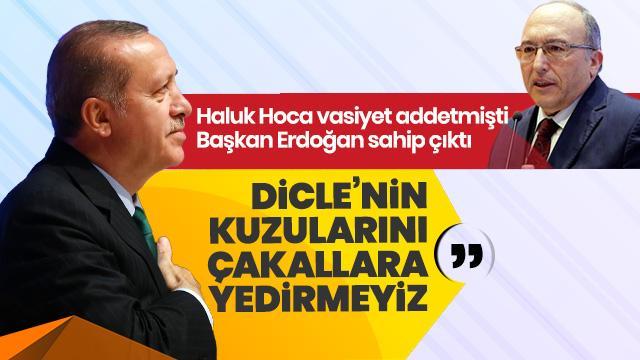 Haluk Dursun'un cenazesinde konuşan Başkan Erdoğan: Dicle'nin kuzularını çakallara yedirmeyeceğiz
