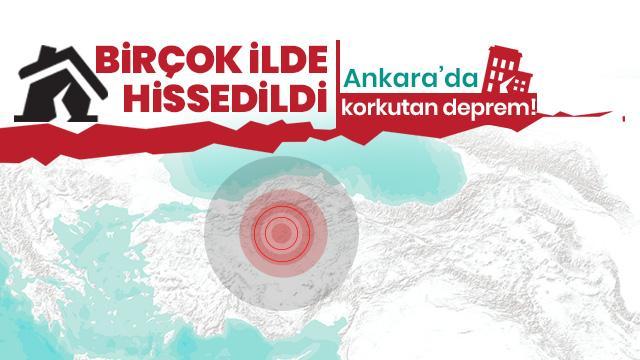 Ankara'da korkutan deprem! AFAD merkez üssü ve şiddetini açıkladı