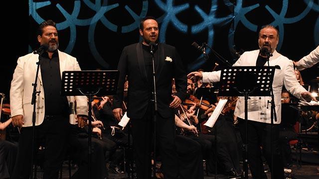 Bodrum'da üç tenor sahne aldı