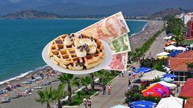 Muğla Fethiye'de 160 liraya 2 waffle! Bunun adı resmen soygundur