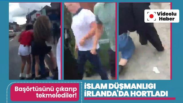 İrlanda'da Müslüman kız çocuğuna ırkçı saldırı! Tekmeleyip, yumurta attılar