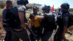 İşgalci İsrail'den Filistinli tutuklulara destek gösterisine müdahale
