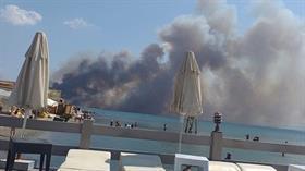 Edremit sahilinde yangın çıktı: Yerleşim yerlerini de tehdit ediyor