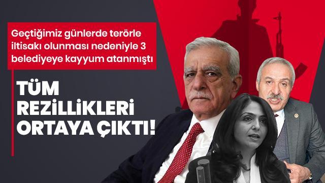 Kayyum atanan HDP'li 3 belediyede rezillik diz boyu!
