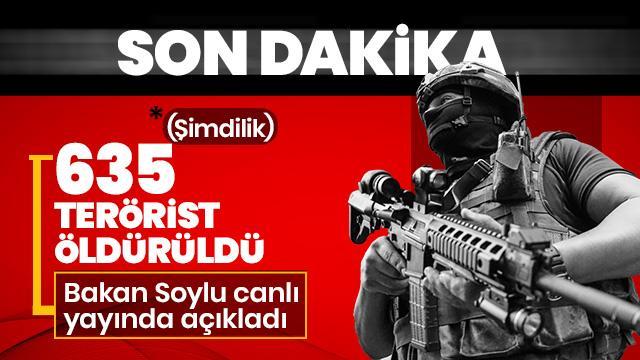 Bakan Soylu: 635 PKK'lı terörist öldürüldü