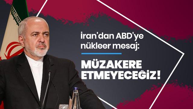 İran Dışişleri Bakanı Zarif'den ABD'ye nükleer mesaj!
