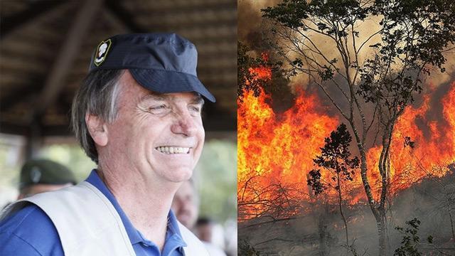 Brezilya Devlet Başkanı Jair Bolsonaro: Brezilya'nın Amazonlar'daki yangınla mücadele için kaynağı yok
