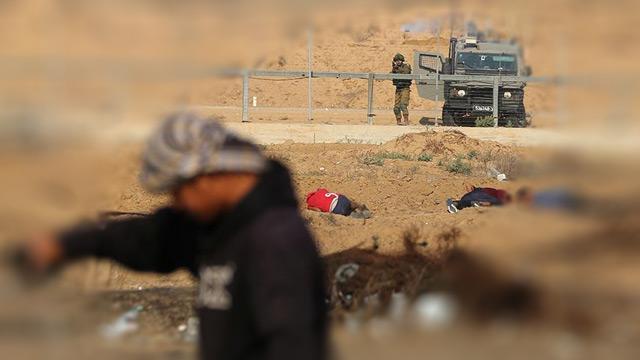 İşgalci İsrail ordusu Gazze'de bir Filistinliyi yaraladı