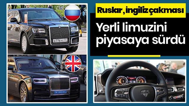 Rusya lideri Putin'in yerli limuzini satışa çıktı! İngiliz otomobilinin çakması olarak yorumlandı