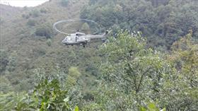 MSB: Terme'de selde mahsur kalan 17 kişi helikopterle tahliye edildi