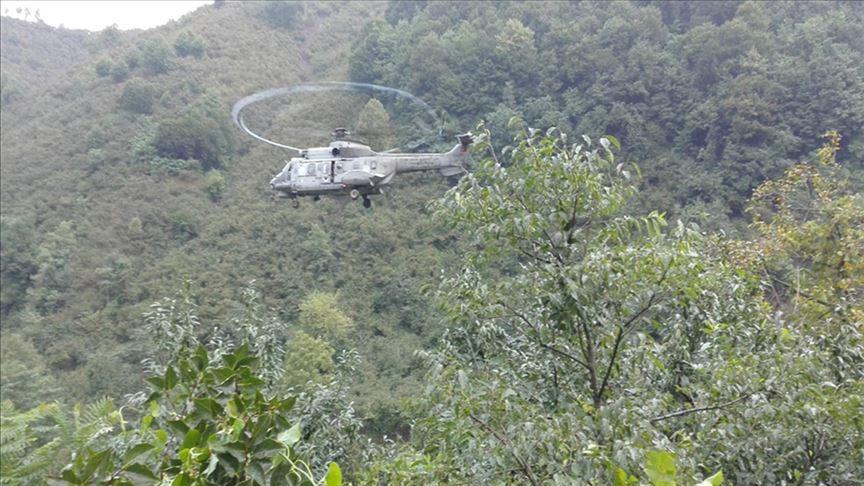 TSK helikopterleri Terme'de 17 kişiyi kurtardı