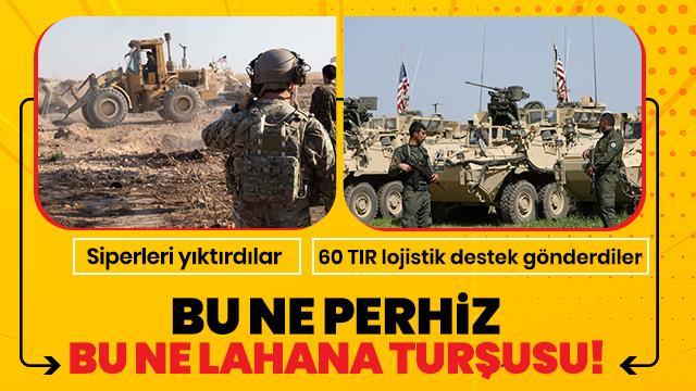 ABD yüzsüzlüğü! Terör örgütü PKK/PYD'ye 60 tır lojistik destek gönderdi