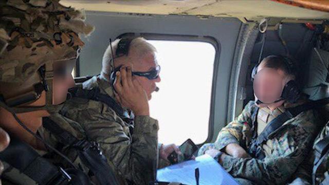 Pentagon: Bir Türk ve bir Amerikalı general Fırat'ın doğusunda ilk ortak helikopter uçtu