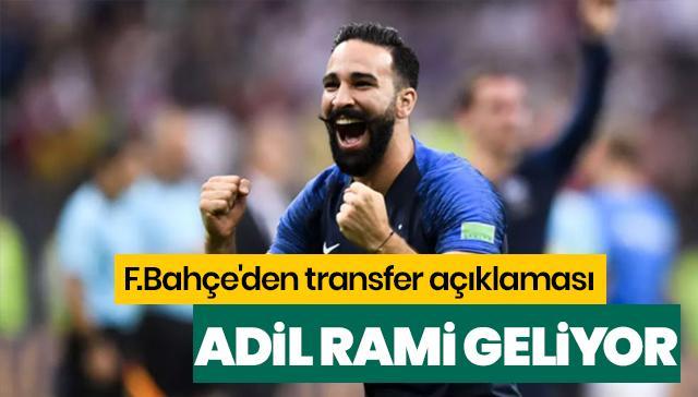 F.Bahçe'den transfer açıklaması: Adil Rami İstanbul'a gelecek