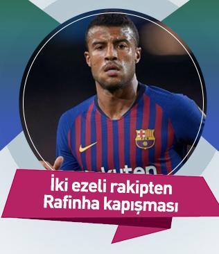 İki ezeli rakip Fenerbahçe ile Beşiktaş, Rafinha'nın transferi için karşı karşıya geldi