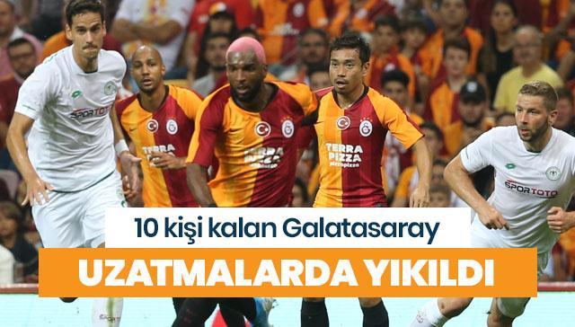 Galatasaray uzatmada yıkıldı