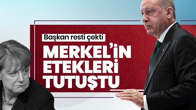 Başkan Erdoğan Merkel'i köşeye sıkıştırdı! Başı fena halde dertte