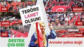 PKK'ya lanet yağdı! On binler yürüdü