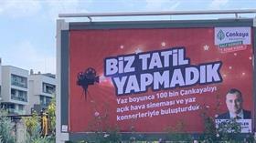 Çankaya Belediyesi'nden İmamoğlu'na göndermeli afiş
