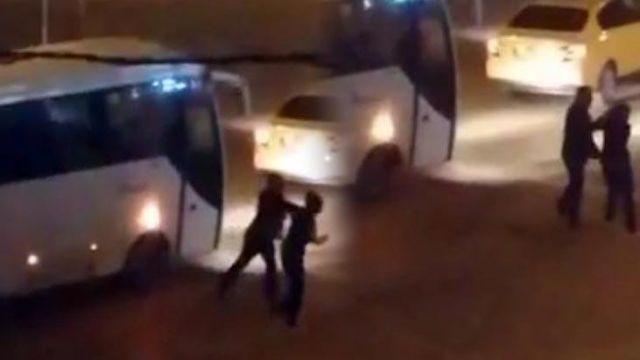Bolu'da bir taksici, kadına tekme tokat saldırdı