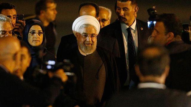 İran Cumhurbaşkanı Ruhani, Üçlü Zirve için Ankara'da